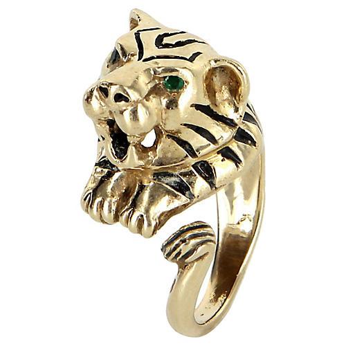Bengal Tiger Ring 14k Gold