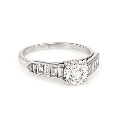 Vintage Cartier Diamond Engagement Ring