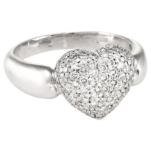 Pavé Diamond Heart Ring