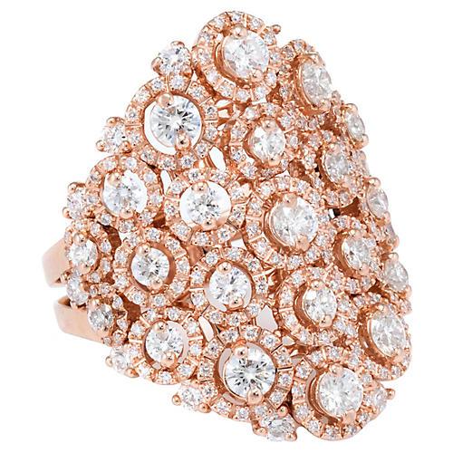 18k Leo Pizzo Rose Gold Diamond Ring