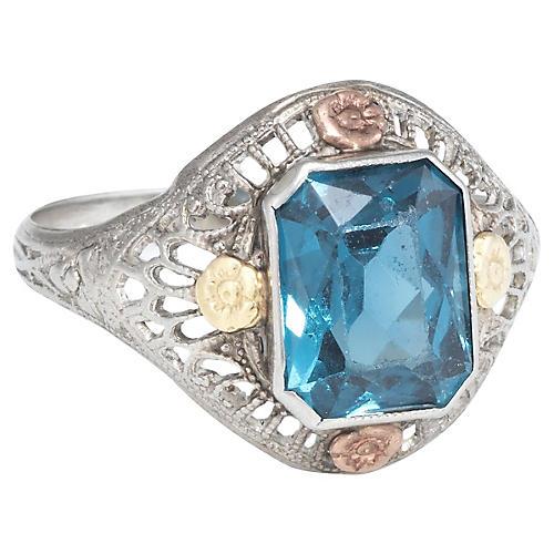Art Deco Filigree Cocktail Ring
