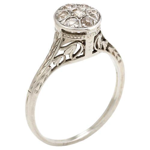 Belais Round Diamond Cluster Ring 18k
