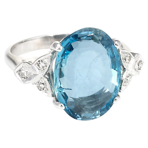 Santa Maria Aquamarine Diamond Ring