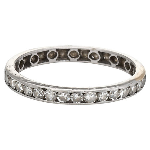 Vintage Deco Diamond Eternity Ring