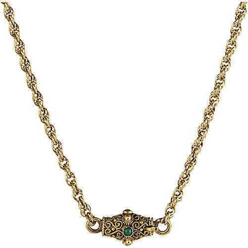 Turquoise Cannetille Clasp Necklace