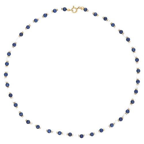 Lapis Lazuli Freshwater Pearl Necklace