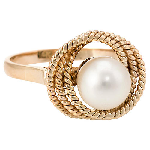 14K Cultured Pearl Cocktail Ring