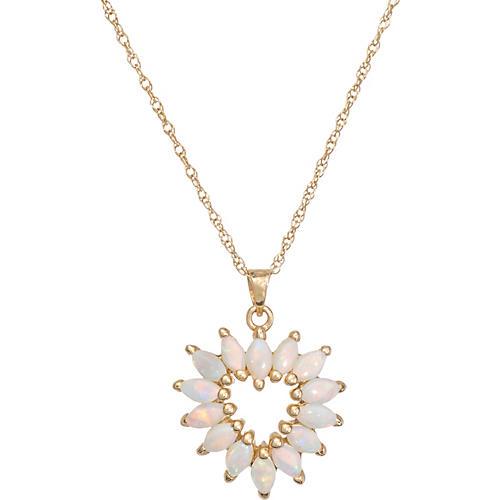 Opal Heart Pendant & Necklace