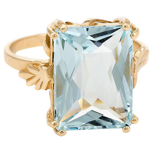 13ct Aquamarine Cocktail Ring