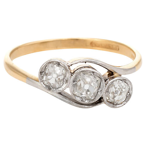 Antique Deco Diamond Trilogy Ring