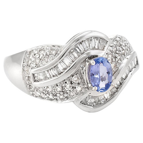 Tanzanite & Diamond Cocktail Ring