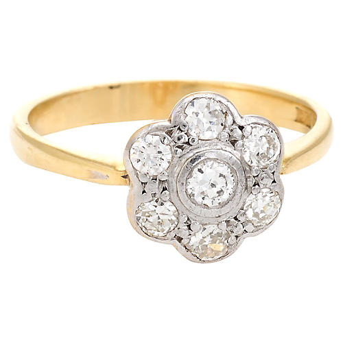 Victorian Forget-Me-Not Diamond Ring