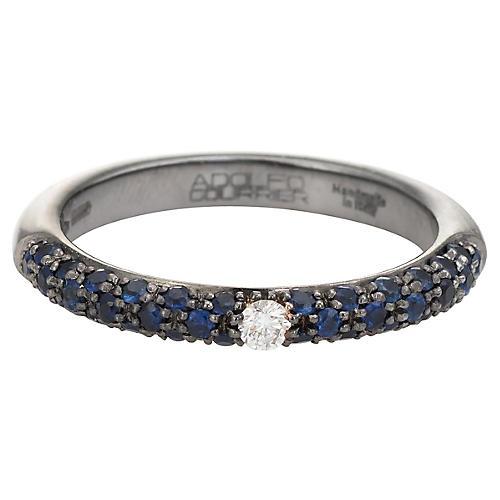 Adolfo Courrier Sapphire Diamond Ring