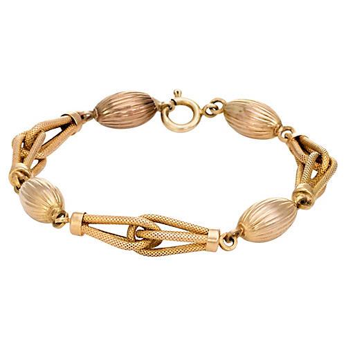 Textured Gold Link Bracelet