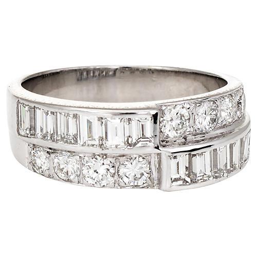 2-Row Diamond Wedding Band