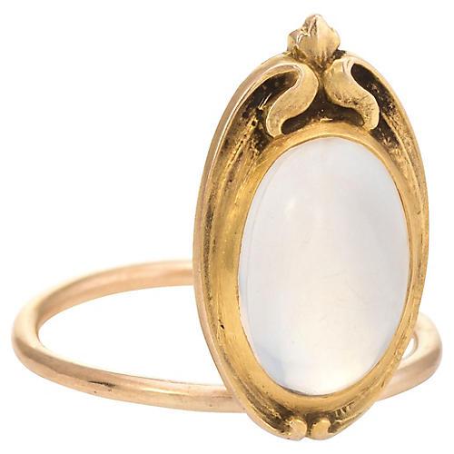 Art Nouveau Moonstone Conversion Ring