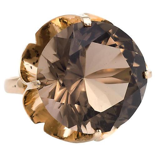 14K Gold & Smoky Quartz Cocktail Ring