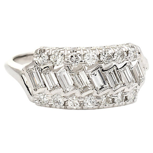 Mixed-Cut Diamond Anniversary Ring