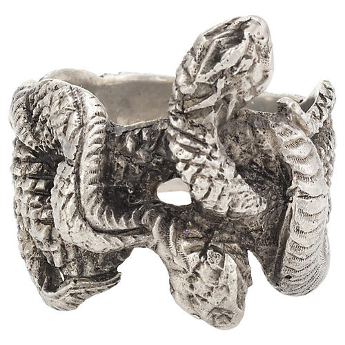 Buccellati Double-Headed Snake Ring