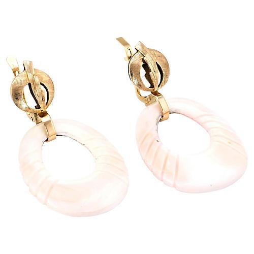 Angel Skin Coral Hoop Earrings