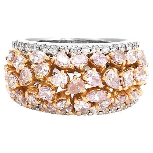 18K Gold & Pink Diamond Ring