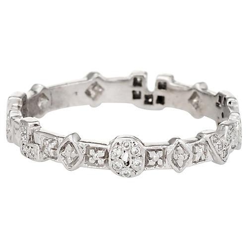 I Love U Diamond Eternity Ring