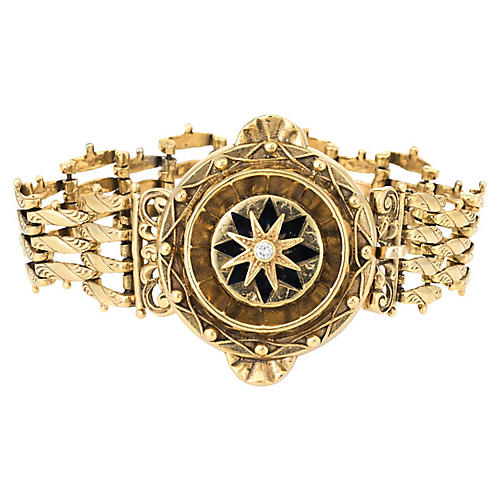 Victorian Revival 14K Gold Bracelet
