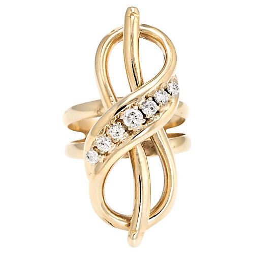 14K Infinity Knot Ring