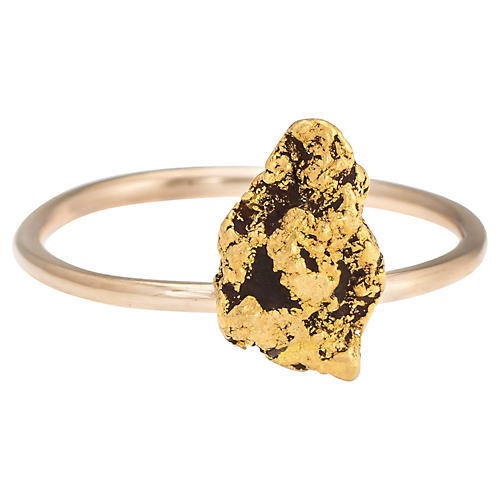 Victorian 14K & 22K Gold Nugget Ring