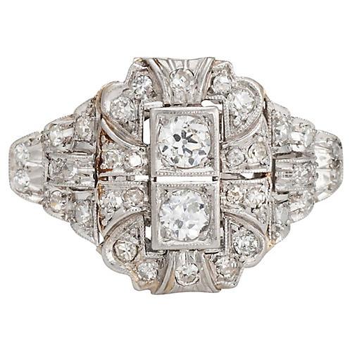 Art Deco Diamond & Platinum Ring