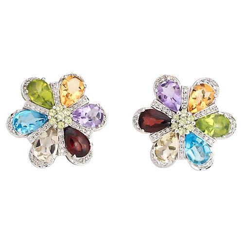 Semi-Precious Rainbow Gemstone Earrings
