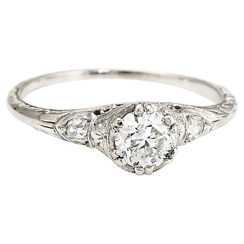 Antique Deco Diamond Ring 0.40ctw
