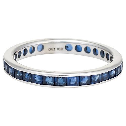 18K Gold Sapphire Eternity Ring