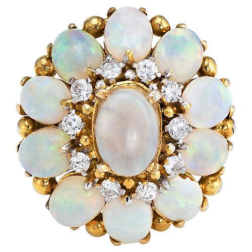 H Stern Opal & Diamond Ring 18k Gold