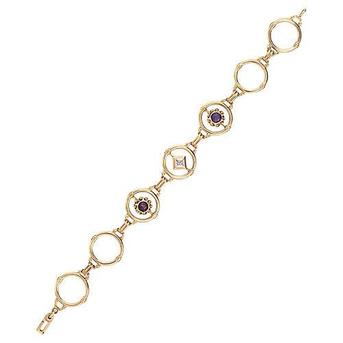 Art Deco Amethyst & Diamond Bracelet