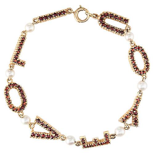 14k Gold I Love You Bracelet