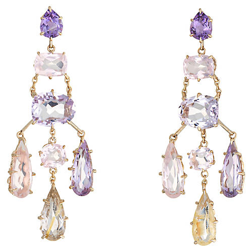 H Stern Cobblestone Earrings Amethyst