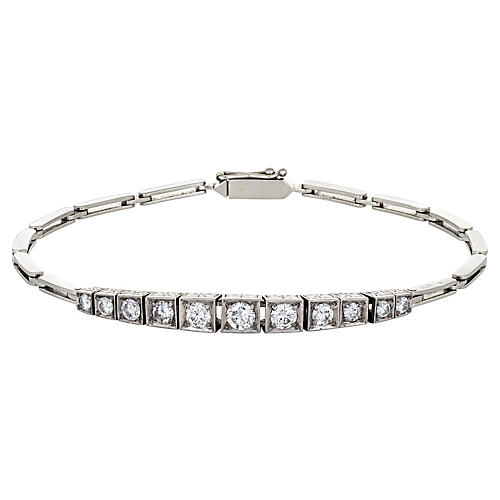 Antique Deco Diamond Bracelet, 1.15ct