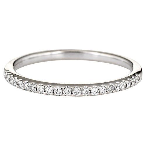 Micro Pave Diamond Band 14 Karat Gold