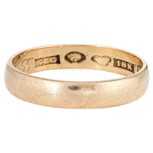 Swedish Wedding Band 18 Karat Gold
