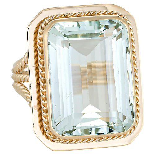 14 Carat Aquamarine Cocktail Ring
