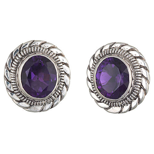 Stephen Dweck Amethyst Earrings Clip On