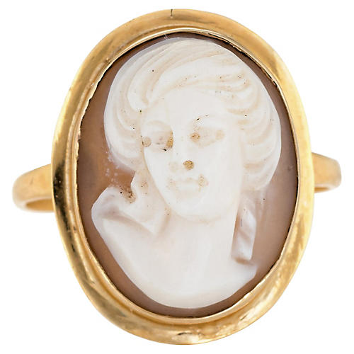 High Relief Cameo Ring 18k Gold