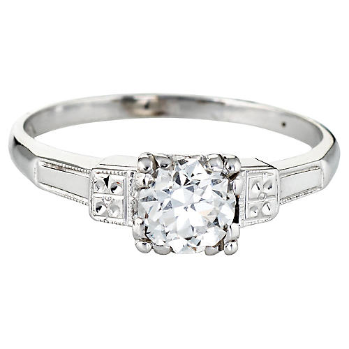 Art Deco Diamond Ring 14k Gold