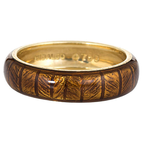 Hidalgo 5mm Brown Enamel Band