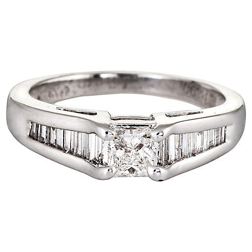 Mixed Cut Diamond Engagement Ring