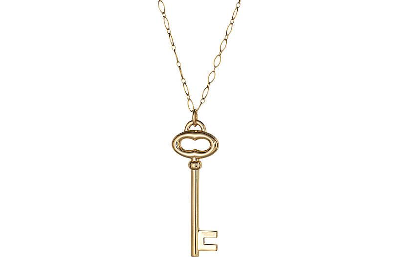 Tiffany & Co Large Key Pendant Necklace
