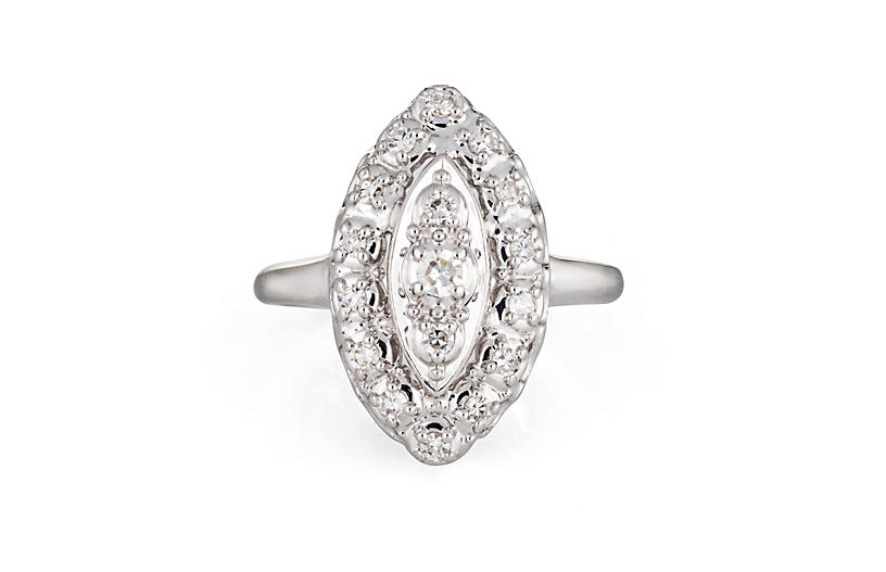 Diamond Navette Cocktail Ring