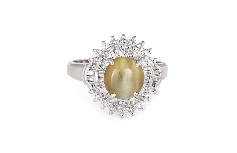 Cat's Eye Chrysoberyl Diamond Ring