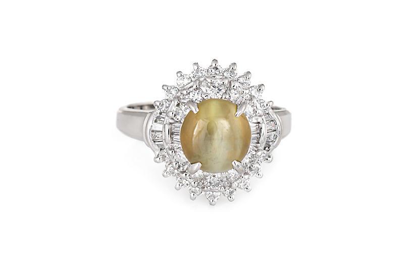 Cat's Eye Chrysoberyl Diamond Ring